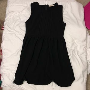 Black Dress with Ruffles at Top